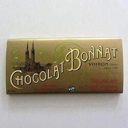 CHOCOLAT NOIR PRALINE-AMANDES 100G - BONNAT CHOCOLATIER