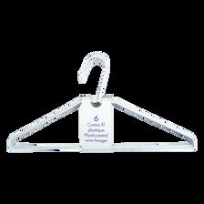 Cintres fil acier plastifié, blanc, 6 unités