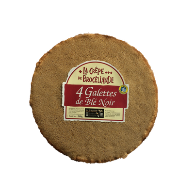Galette de blé noir tradition Bretagne LA CREPE DE BROCELIANDE, sachetx4, 260g