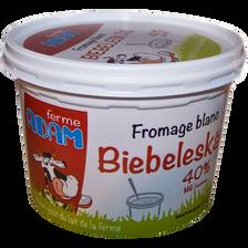 Fromage blanc 40% de mg, FERME ADAM, 500g