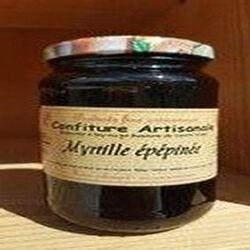 Confiture myrtille sans pépins,Recette du Jura, 430g