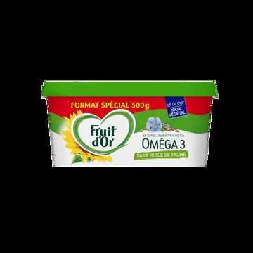 Fruit d'Or Margarine Demi Sel Sans Huile De Palme Oméga 3 Fruit D'or, 500g