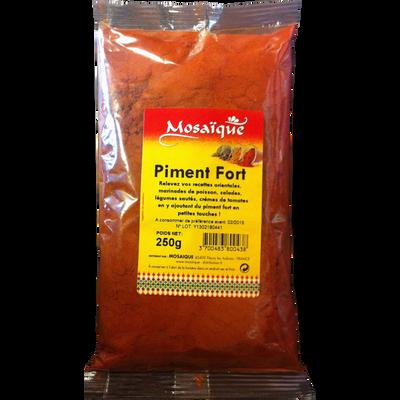 Piment fort moulu MOSAÏQUE, sachet de 250g