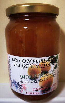 Confiture de mirabelle, Les Ruchers des barons d'Apcher, 450g