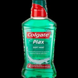 Bain de bouche colgate soft mint 24h PLAX, flacon de 500ml
