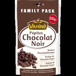 Pépites de chocolat noir VAHINE, sachet de 200g