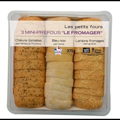 """Mini pains préfou """"le fromager"""", 3 pièces, 375g"""