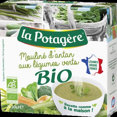 Mouliné d'Antan aux légumes verts bio LA POTAGERE, 2x30cl