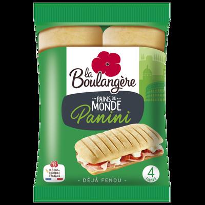 Pains spécial panini LA BOULANGÈRE, x4 soit 300g