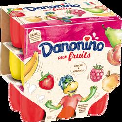 Petit suisse aux fruits DANONINO, 18x50g