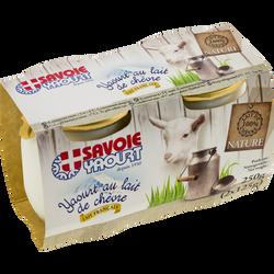 Yaourt au lait de chèvre nature SAVOIE YAOURT, 2x125g