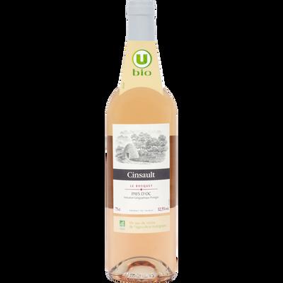 Vin rosé IGP Pays d'Oc Cinsault Le Bosquet U BIO, 75cl