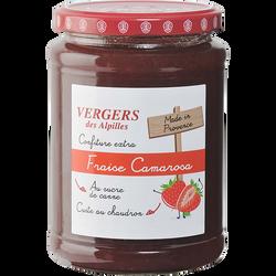 Confiture extra fraise Camarosa VERGER ALPILLES, 750g