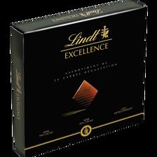 Assortiment de 32 chocolats carrés dégustation, excellence, LINDT, 176g