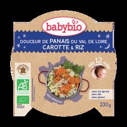 Douceur de panais carottes des landes polenta BABYBIO, dès 12 mois, 230g