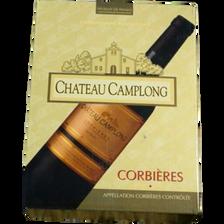 """Vin rouge AOP Corbières """"Chateau Camplong"""", fontaine à vin de 3l"""