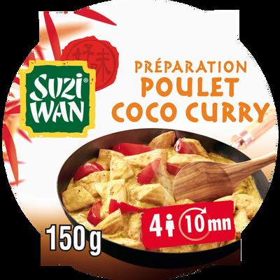 Sauce aux épices pour la préparation de poulet coco curry SUZI-WAN, 150g