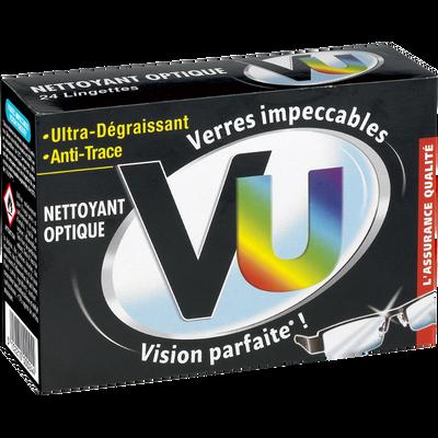 Nettoyant pour lunettes VU, 24 pochettes