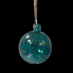 Boule suspension en verre 8cm bleu