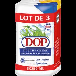 Douche crème douceurs lait végétale x2 et vanille x1 DOP, flacons de 250ml
