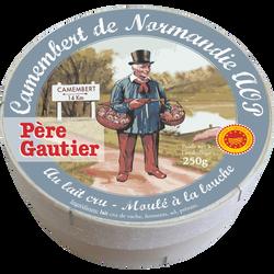 Camembert de Normandie AOP lt cru 21,9%mg PERE GAUTIER 250g