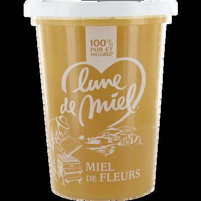 Miel de fleurs crémeux LUNE DE MIEL, pot en plastique de 1kg