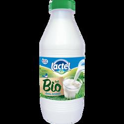 Lait pasteurisé demi-écrémé bio LACTEL, bouteille de 1l
