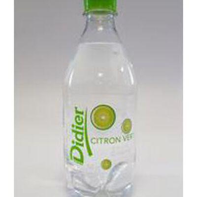 Eau minérale naturelle gazeuse aromatisée citron vert sans sucre DIDIER, bouteille de 50cl