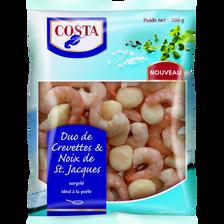 Duo de crevettes & St Jacques, COSTA, 300g