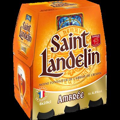 BIERE AMBREE ABBAYE SAINT LANDELIN 6,5° 6X25 CL