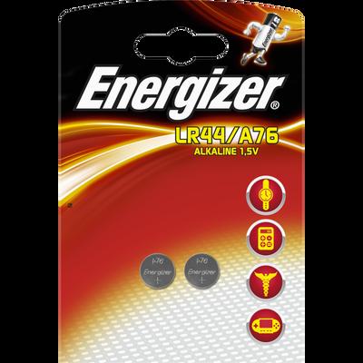 Piles ENERGIZER, mini, LR44/A76, 2 unités
