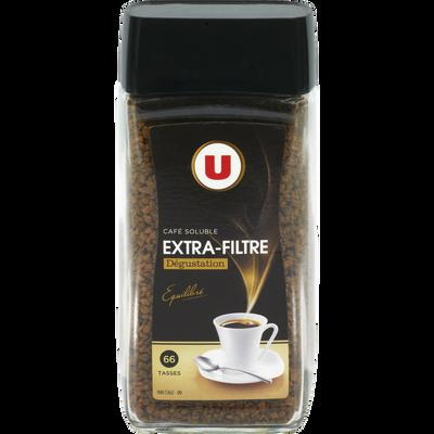 Café soluble lyophilisé extra filtre U, paquet de 200g