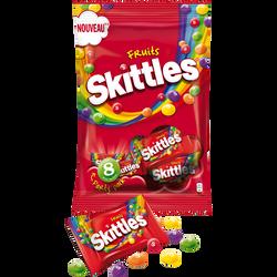 SKITTLES fruits, sachet de 208g de 8 handypockets de 26g