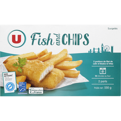 Fish and chips U, 550g