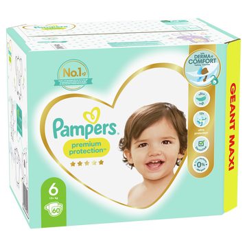 Pampers Couches Premium Protection Langes Geant Maxi Pampers T6 X60