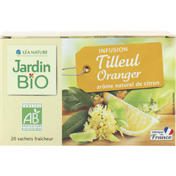 Infusion tilleul oranger - détente JARDIN BIO, 30g