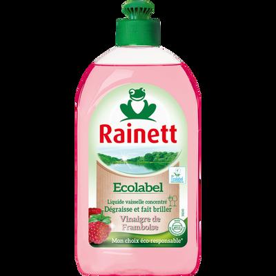 Liquide vaisselle vinaigre de framboise Ecolabel RAINETT, 500ml