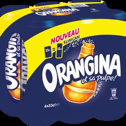ORANGINA standard, slim cannette 6x33cl