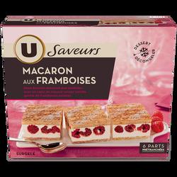 Macaron aux framboises U SAVEURS, 498g