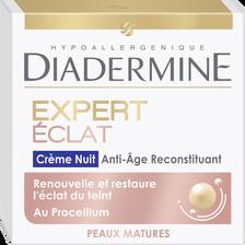 Crème de nuit Soin anti-âge reconstituant expert éclat DIADERMINE, potde 50ml