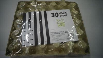 30 oeufs frais moyen cage la croix verte