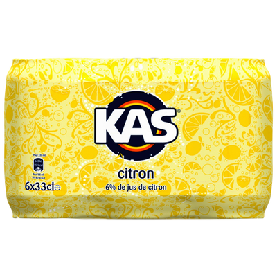 KAS citron, 6 canettes de 33cl