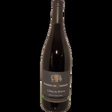 Côtes du Rhône AOP rouge  bio DOMAINE DU SEMINAIRE, bouteille de 75cl