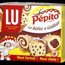 """Assortiment de gâteaux """"La Boîte à Goûter"""" PEPITO, 18 pièces, 540g"""