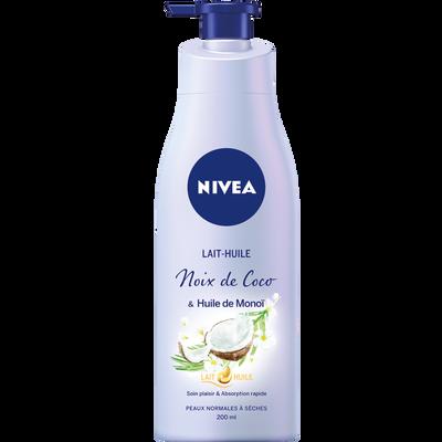 Lait huile coco & monoï peaux normales à sèches NIVEA, 200ml