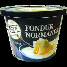Préparation pour fondue normande 3 fromages au lait pasteurisé, ISIGNYSAINTE MERE, 18,75% de MG, 500g