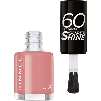 Vernis à ongles 60 seconds super shine colour block 711 xposed RIMMEL, nu, 8ml