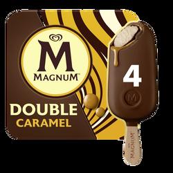 Glace Bâtonnets MAGNUM DOUBLE Caramel x4