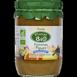 Purée de pommes  figues PLANET BIO, 630g