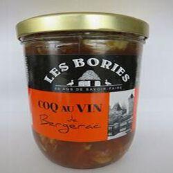 Coq au vin de Bergerac, 760gr, bocal, Les Bories
